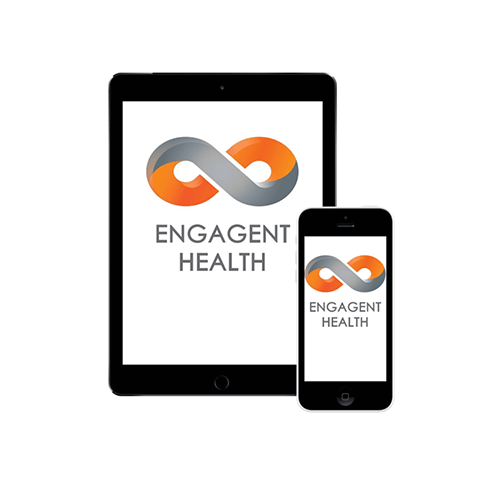 Engagement Health tablet and mobile phone mockups